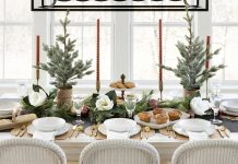 Holiday dining setting