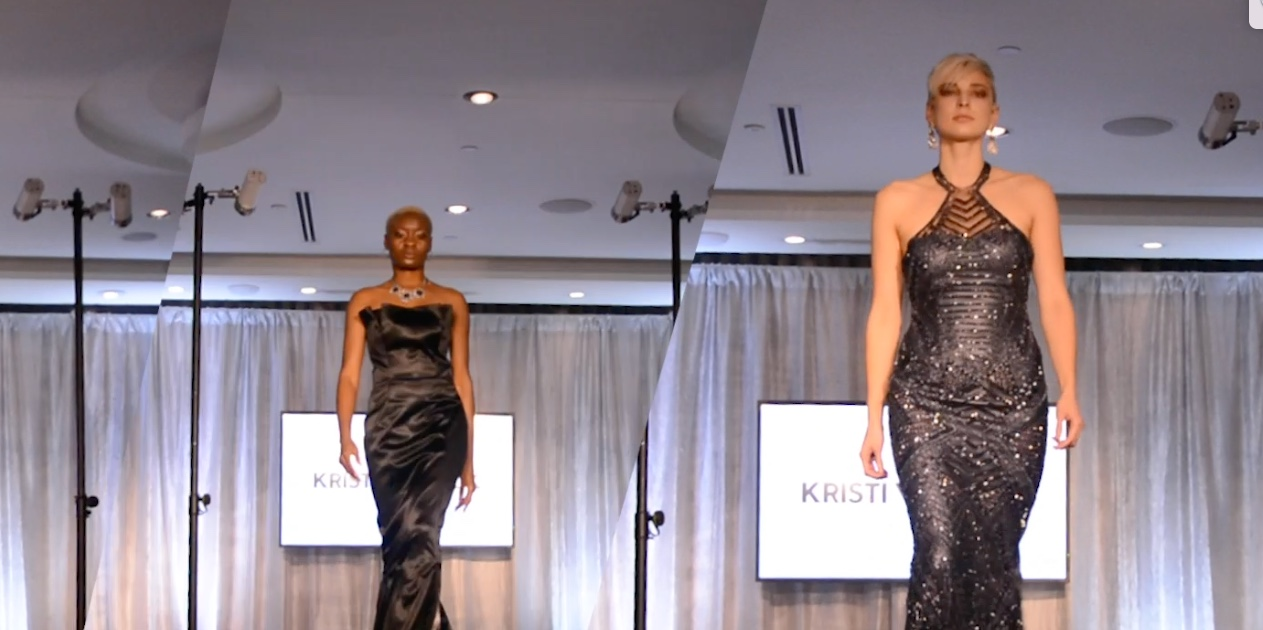 Two of Kristi Vosbeck's dresses for Northern Vogue. Click on the image for a video.