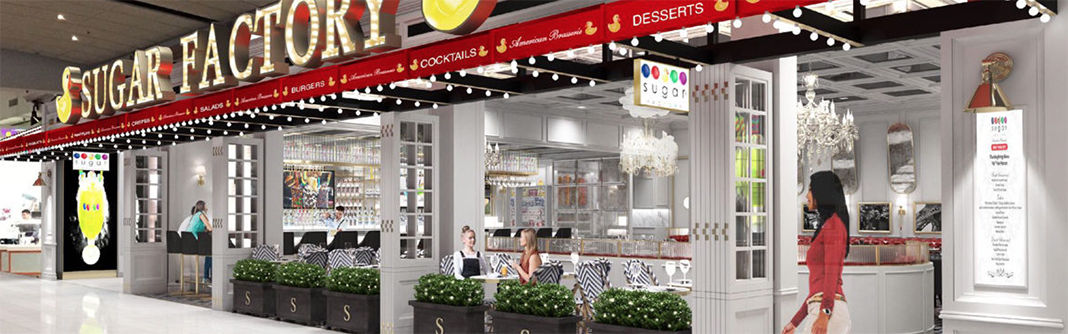 A digital rendering of Sugar Factory American Brasserie at Mall of America.