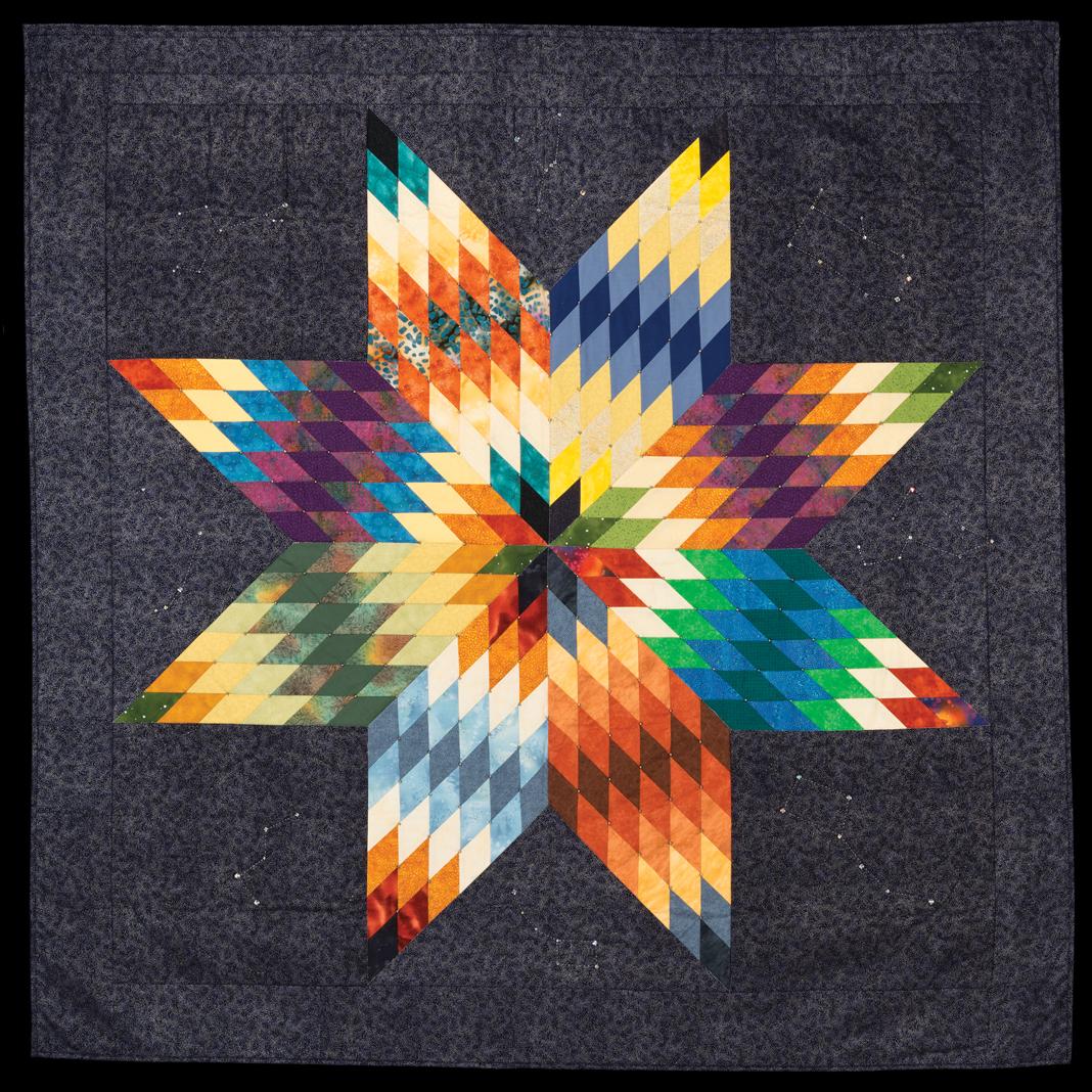 """Star Knowledge"" quilt by Gwen Westerman (Sisseton Wahpeton Oyate [Dakota])"