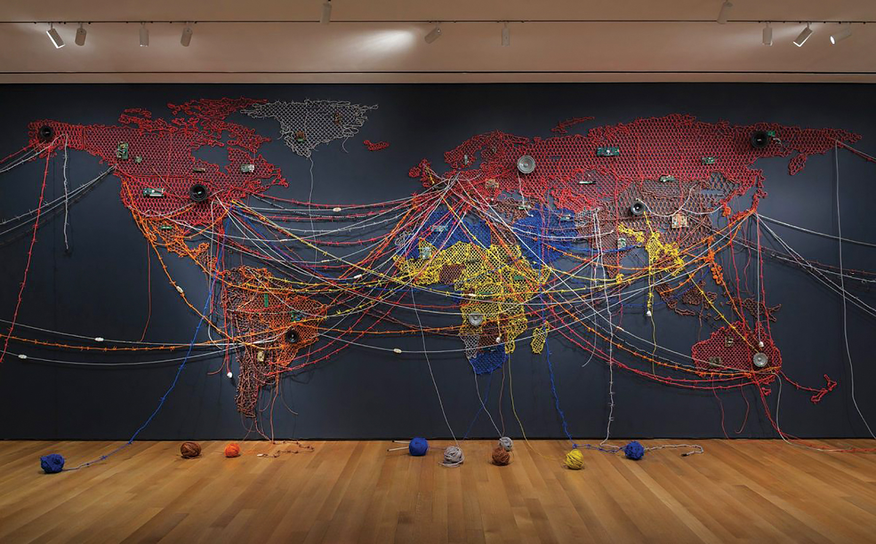 """""""Woven Chronicle,"""" part of """"When Home Won't Let You Stay: Migration through Contemporary Art"""" at the Minneapolis Institute of Art"""