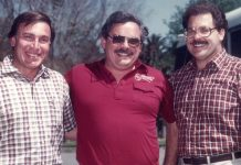 Three adult men circa 1973.