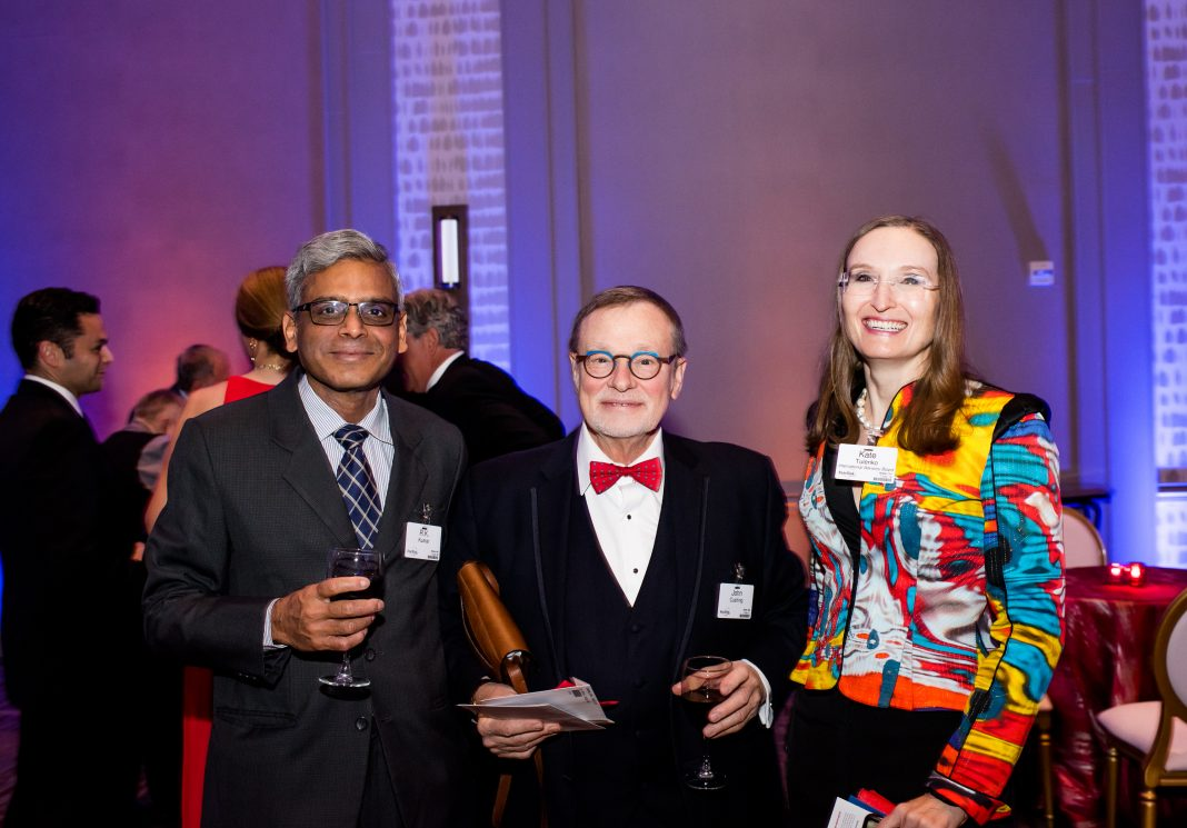 From left: Dr. R.K. Kumar, John Cushing, Dr. Kate Tulenko