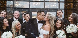 Winter wedding, makeup by Victoria Olhauser at Primped