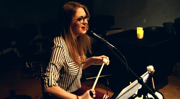 """Theatre Elision's """"Ghost Quartet,"""" featuring Christine Wade in 2019"""