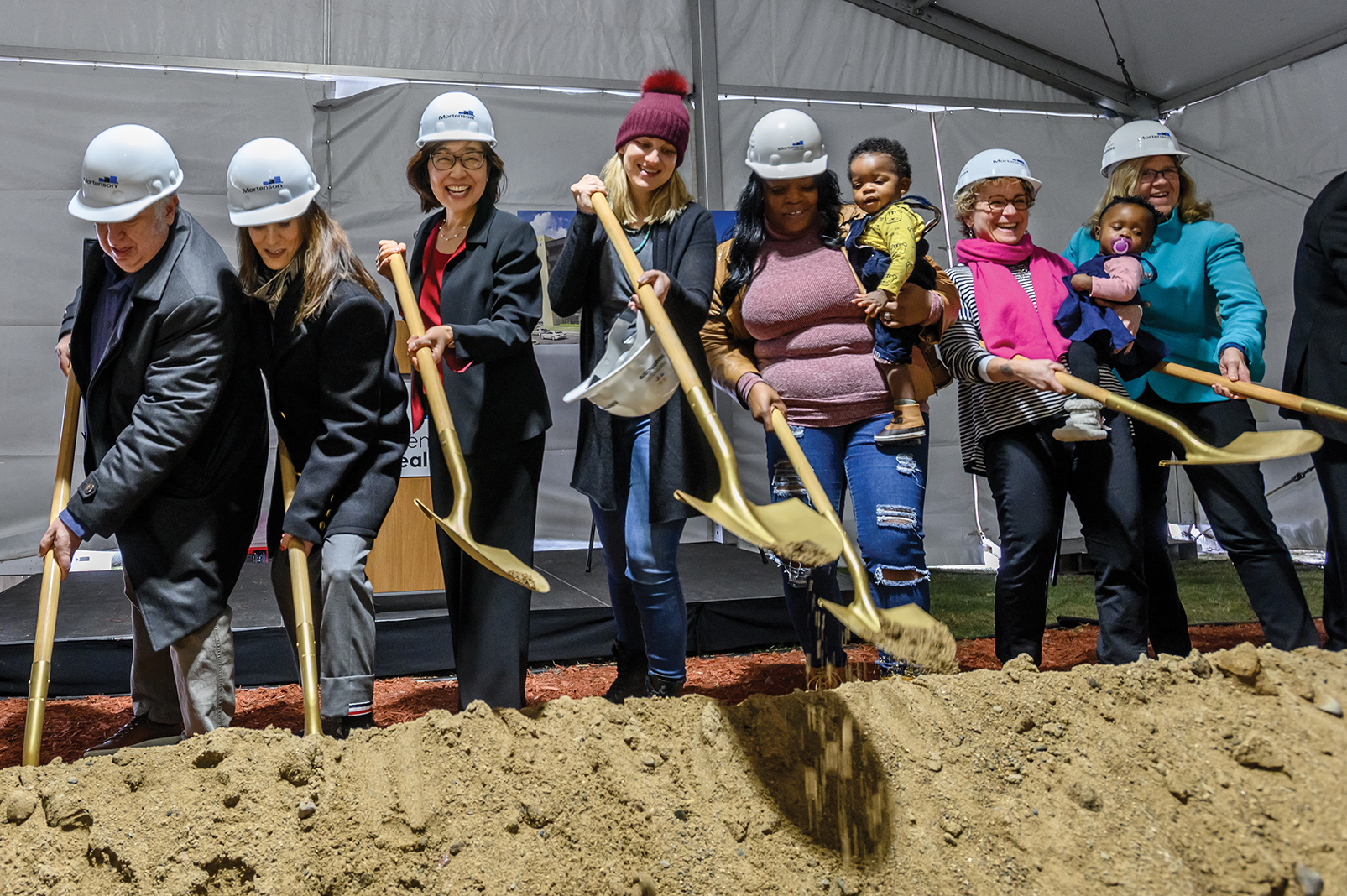 Doctors, donors, and parents break ground for Hennepin Healthcare's new Redleaf Center for Family Healing