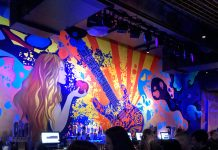 bar mural at the Fillmore Minneapolis music hall