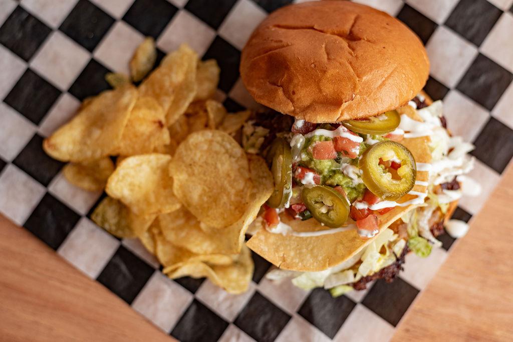 Nacho Burger at Burger Bar