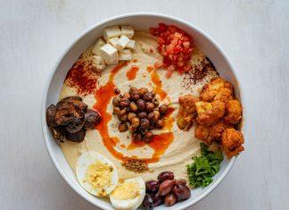 Hummus bowl at Chickpea Hummus Bar