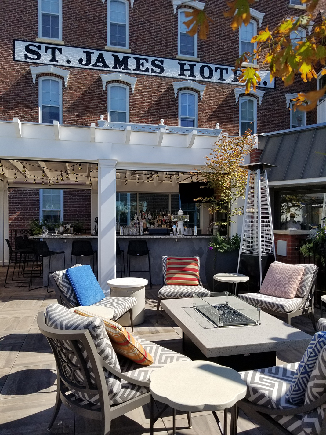 The Veranda at St. James Hotel in Red Wing, Minnesota.
