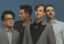 The members of Saint Motel: Aaron Sharp, Greg Erwin, A/J Jackson, and Dak Lerdamornpong. Photo by Catie Laffoon