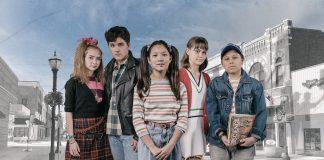 "The cast of ""Spamtown, USA,"" left to right: Arden Michalec (plays Amy Bolton); Zachary Sullivan (plays Travis Olsen); Malia Berg (plays Carol Bolton); Isabella Spiess (plays Jude Olsen); Marcelo Mena (plays Scott Olsen)"
