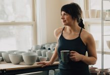 Liz Pechacek fires gallery-worthy pottery inside her garage