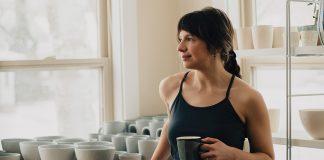 Liz Pechacek fires gallery-worthy pottery inside her garage