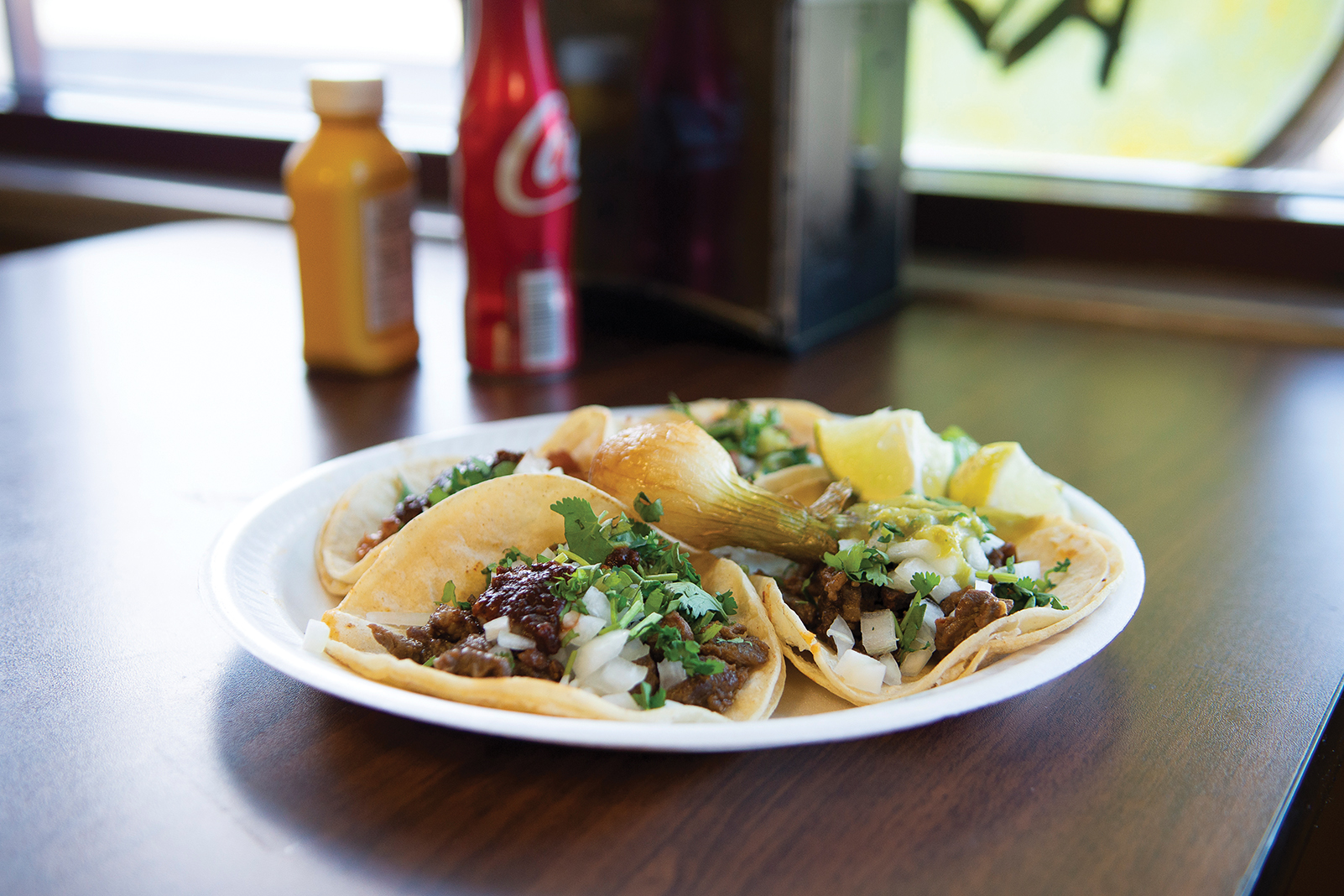 Carne asada tacos from La Campechana Taqueria, in Waite Park, about 10 miles from the St. John's University campus