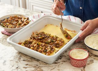 You can assemble a lasagna using one of Mostly Made's frozen meal pouches