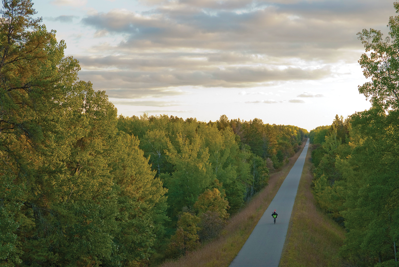 The 115-mile Paul Bunyan State Trail runs from Crow Wing State Park to Lake Bemidji State Park