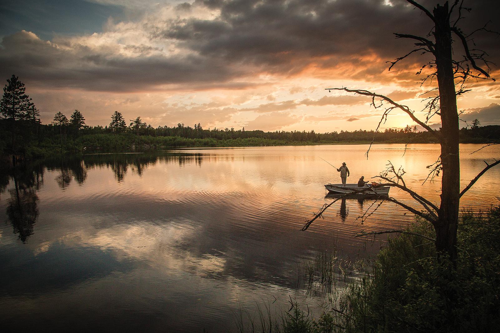 Fishing on Shoepack Lake in northern Minnesota