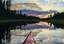 Kayaking along northeast Minnesota inland waterways