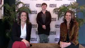 Christina Baldwin, Robin Gillette, and Sarah Rasmussen during the Jungle's virtual B.A.S.H. this May
