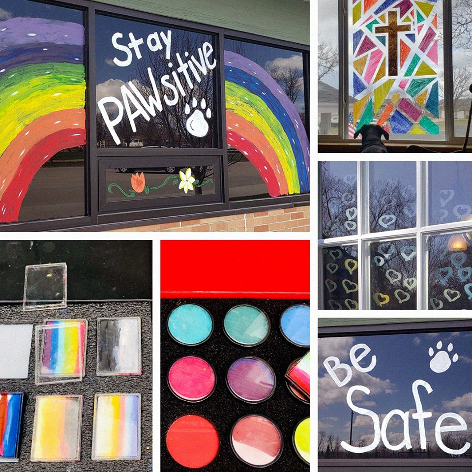 Lynda Tysver has turned to window painting to help spread joy and color to Minnesota communities.