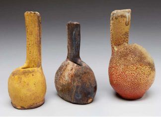 Pottery by Jan McKeachie Johnston, one of the 57 participating potters this year