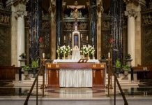 Altar at Cathedral of St. Paul in St. Paul, Minnesota