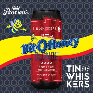 Bit O Honey blonde ale from Tin Whiskers Brewing Co.