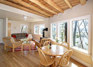 Cooper's Cottage living room at Hawks View Cottages, Lodges & Suites