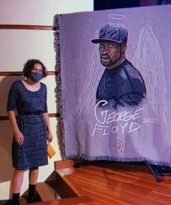 Faith Blackstone's art of George Floyd
