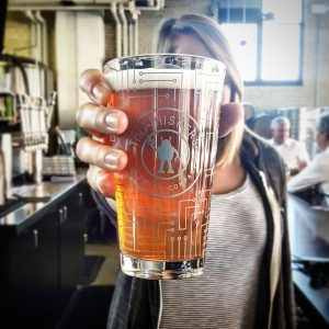 Pint of beer, poured at Tin Whiskers Brewing Co.