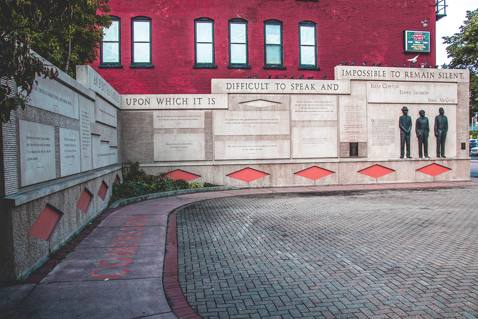 The Clayton Jackson McGhie Memorial in Duluth