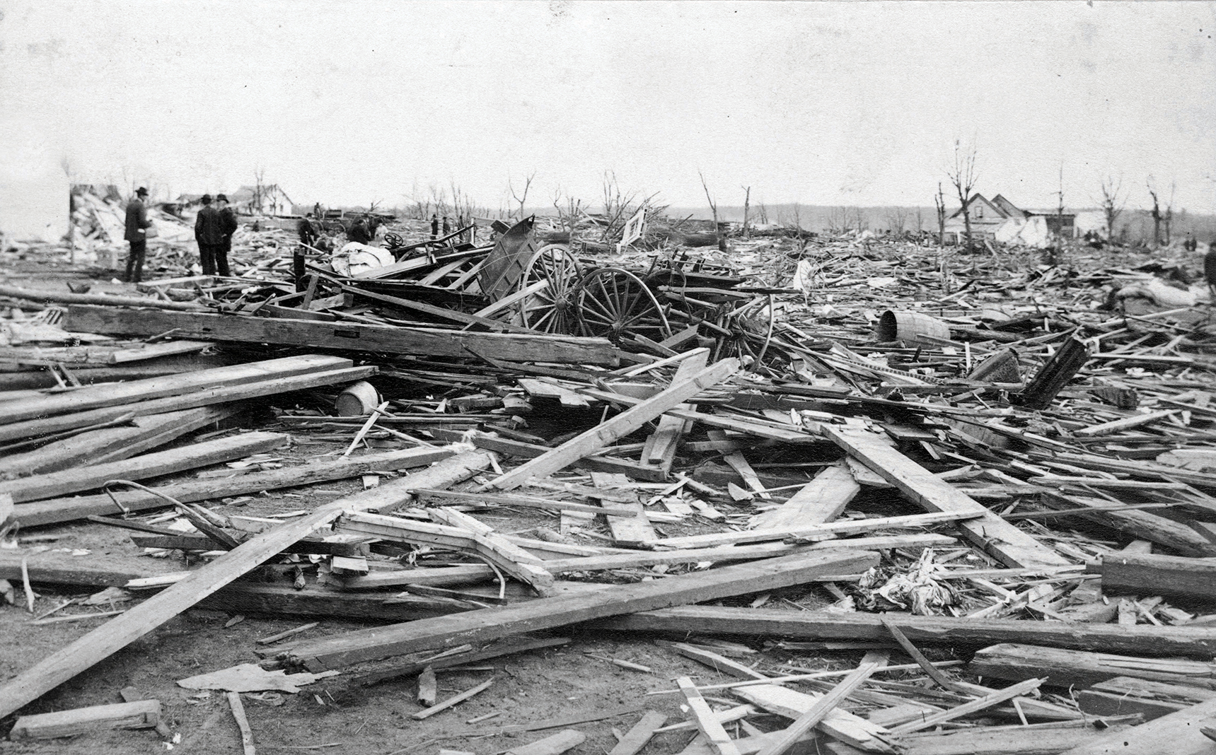Tornado damage in Sauk Rapids in 1886